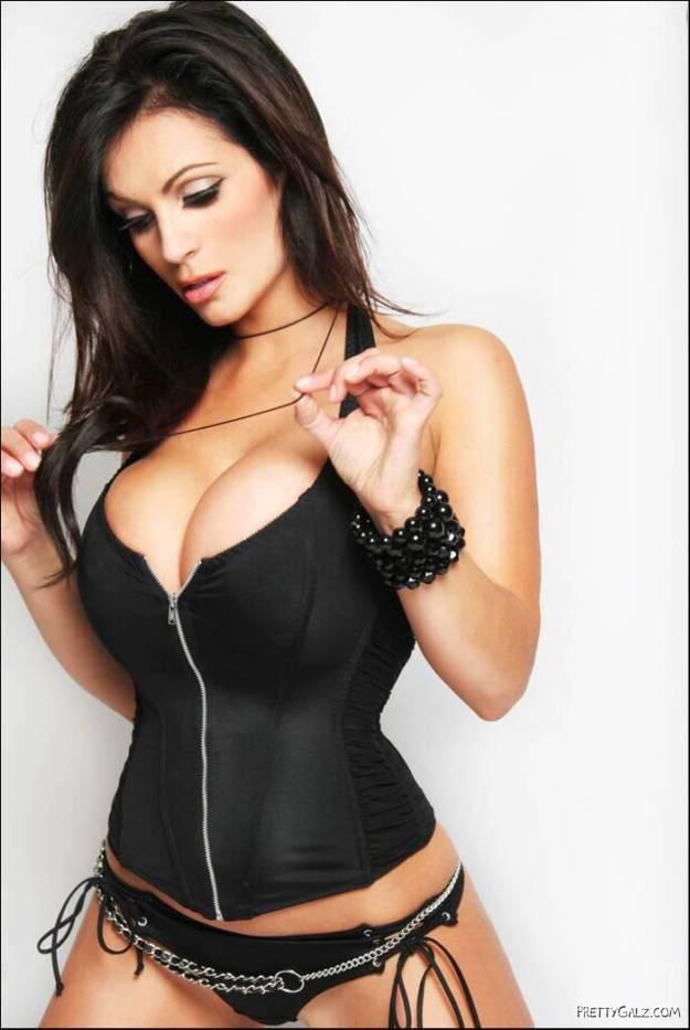 Denise Milani in Black Cap