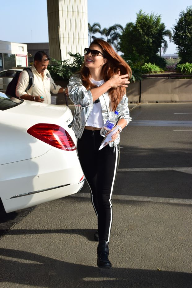 Jacqueline Fernandez Looks Stylish While Leaving The City