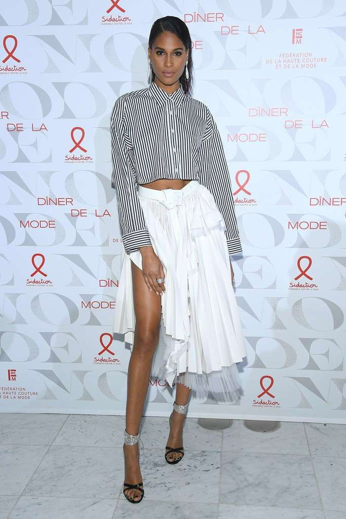 Cindy Bruna Attends 'Diner De La Mode' At Paris Fashion Week