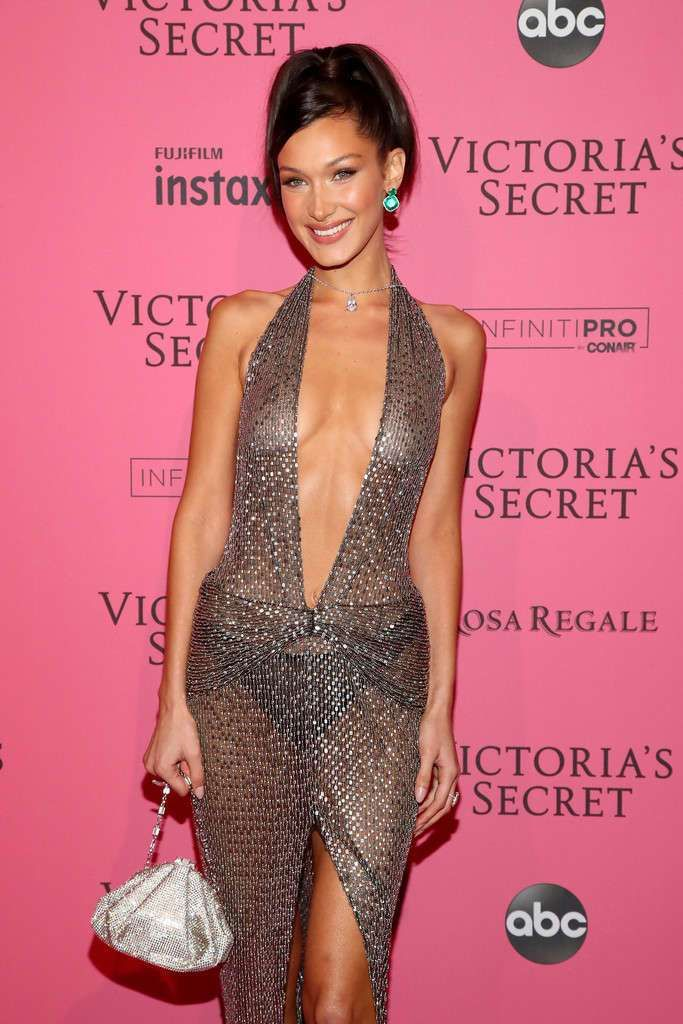 Gorgeous Bella Hadid At Victoria's Secret Fashion Show After Party