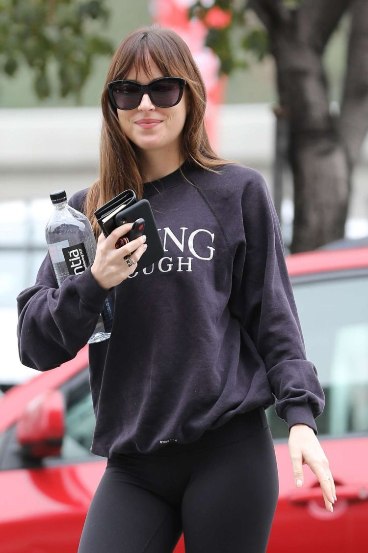 Fitness Freak Dakota Johnson Spotted Outside A Gym In Burbank