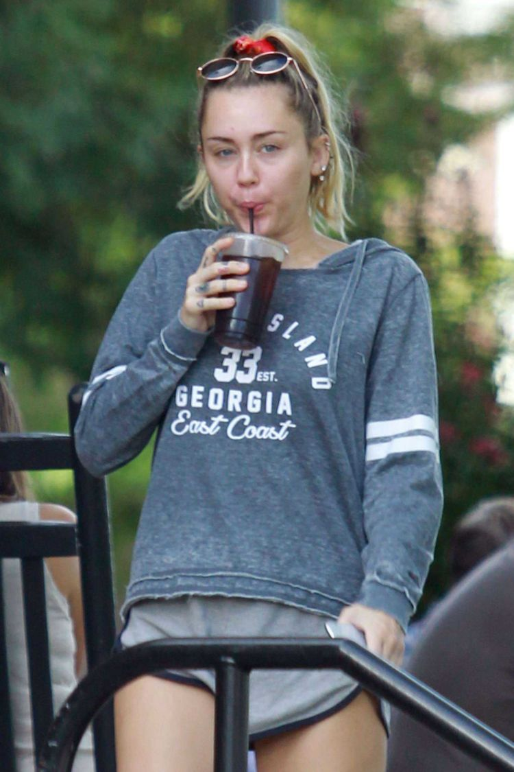 Miley Cyrus Candids In Shorts Out In Nashville