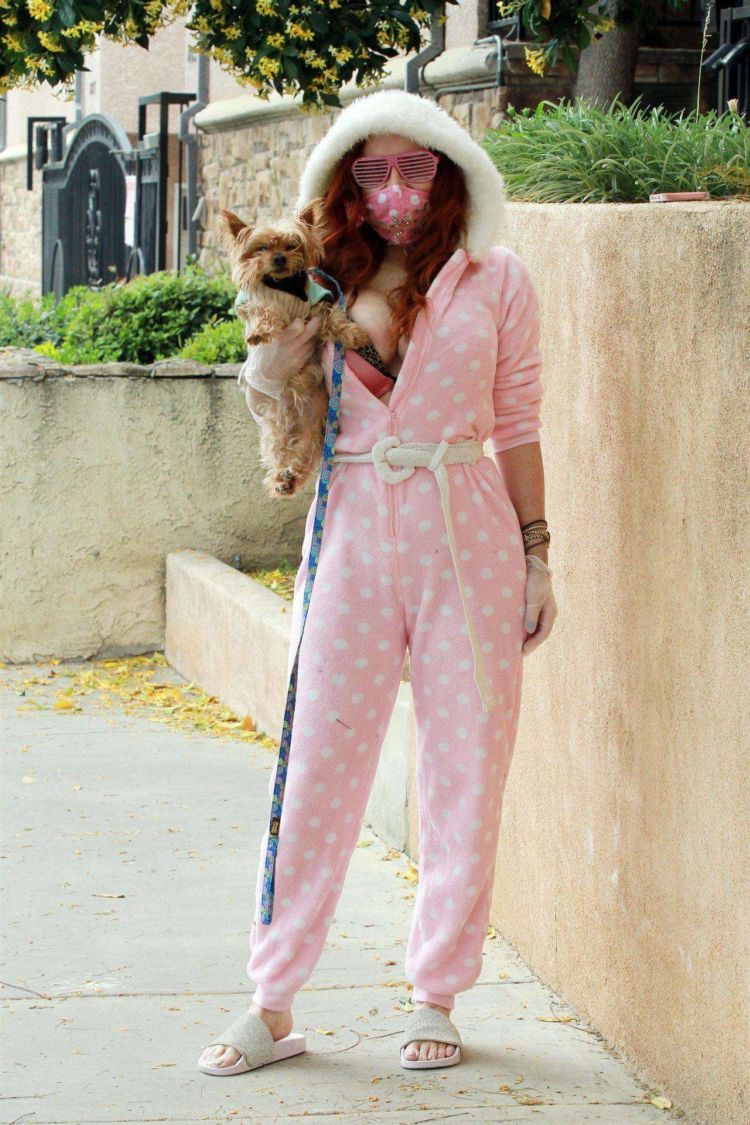Phoebe Price Spotted Out With Her Dog In Los Angeles