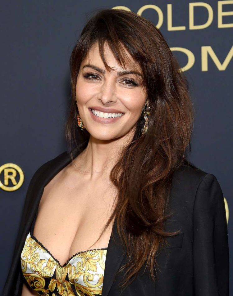 Sarah Shahi Attends Showtime Golden Globe Nominees Celebration Event