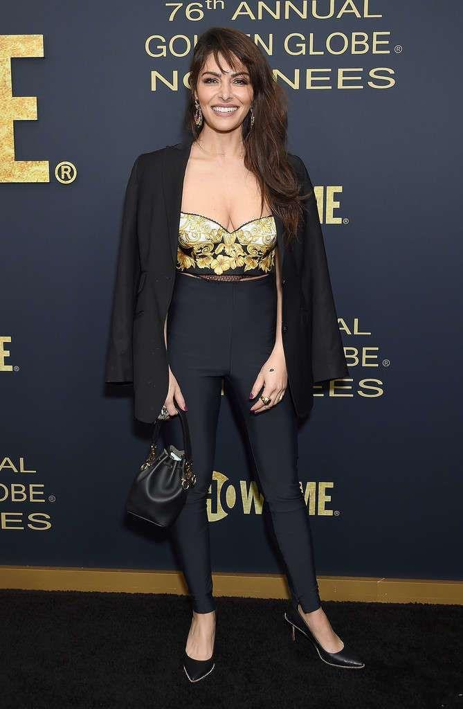 Sarah Shahi Attends Showtime Golden Globe Nominees Celebration Event