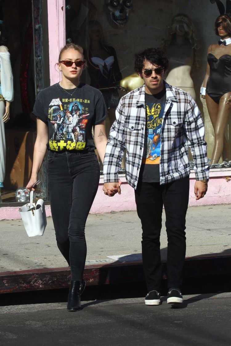 Sophie Turner Candids In A Black Jeans Out In West Hollywood