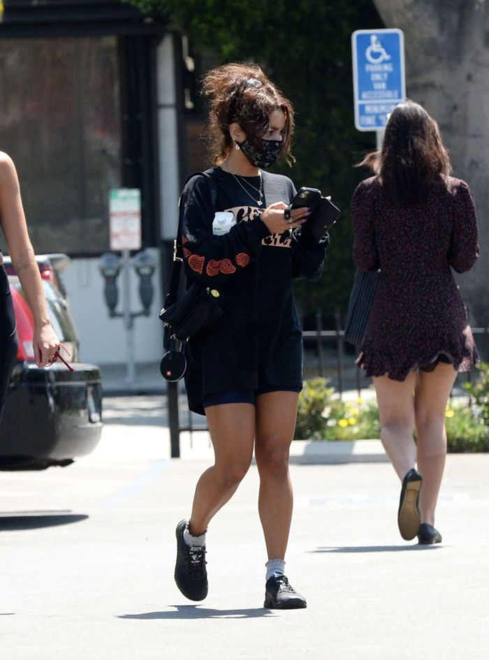 Vanessa Hudgens Candids While Leaving A Gym In Los Angeles