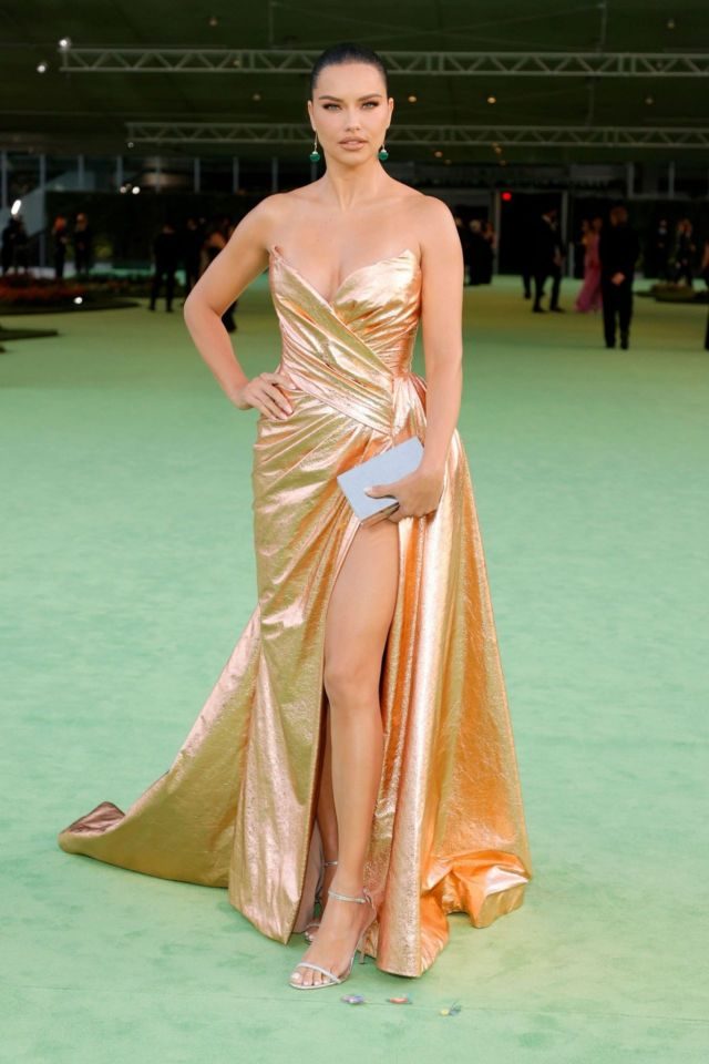 Gorgeous Adriana Lima Attends The Academy Museum Of Motion Pictures Opening Gala