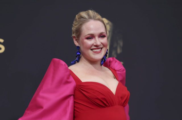 Ariel Dumas In Red At 73rd Primetime Emmy Awards