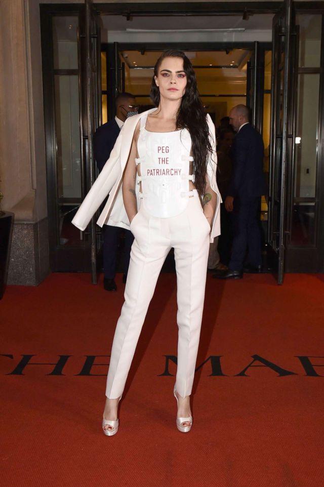 Stylish Cara Delevingne At 2021 Met Gala In New York