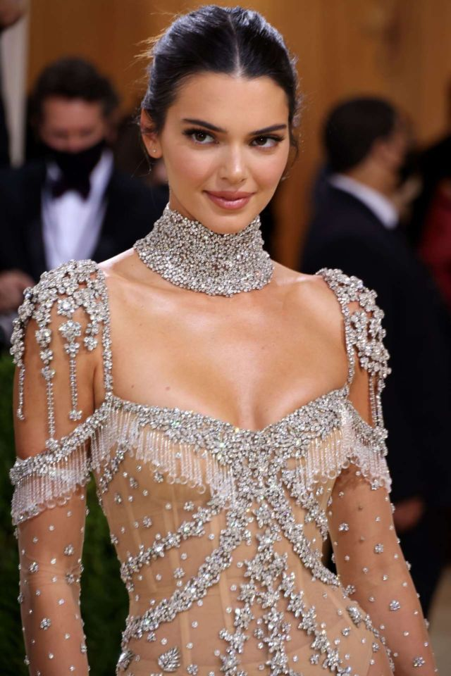 Beautiful Kendall Jenner Attends Met Gala 2021 In New York