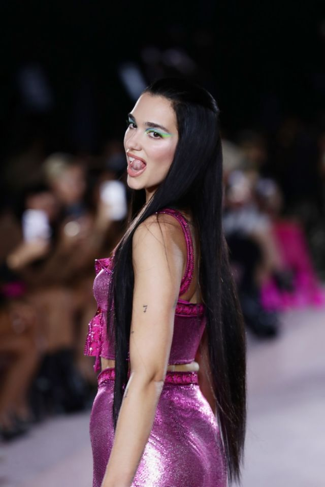 Stunning Dua Lipa Walks At Versace Fashion Show At Milan Fashion Week