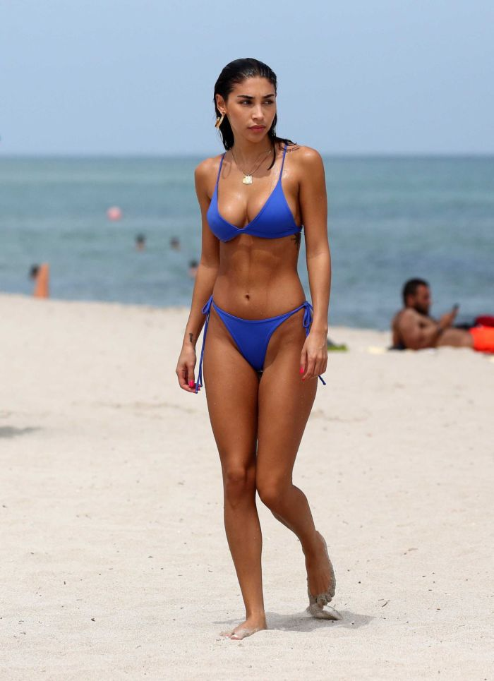 Chantel Jeffries During Her Vacation In A Blue Bikini