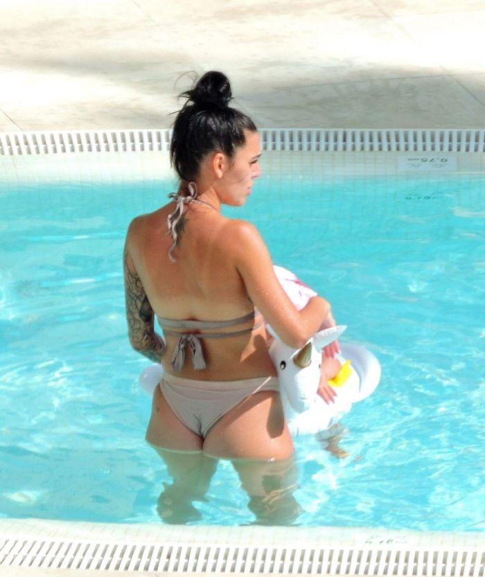Elena Miras Vacationing In Bikini With Mike Heiter At Palma De Mallorca, Spain