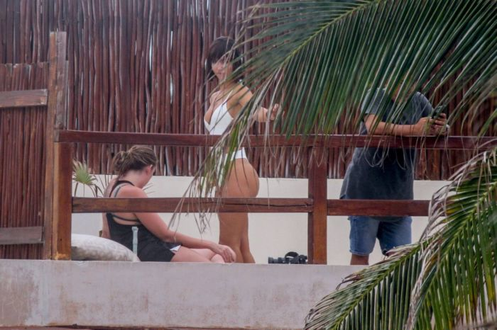 Rachel Cook Candids In A Swimsuit At The Beach In Tulum