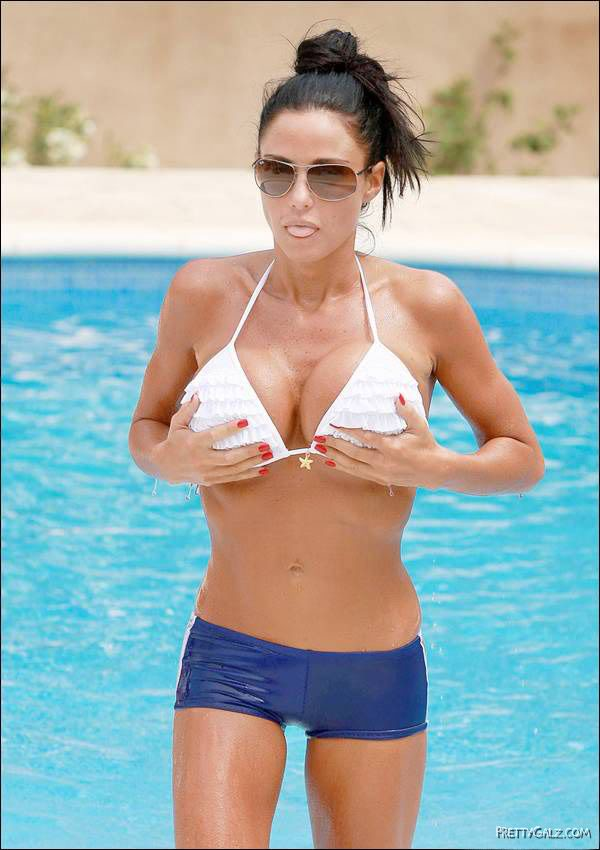 Katie Price Having Fun in Pool