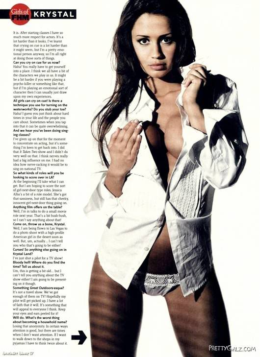 Stunning Krystal Forscutt for FHM