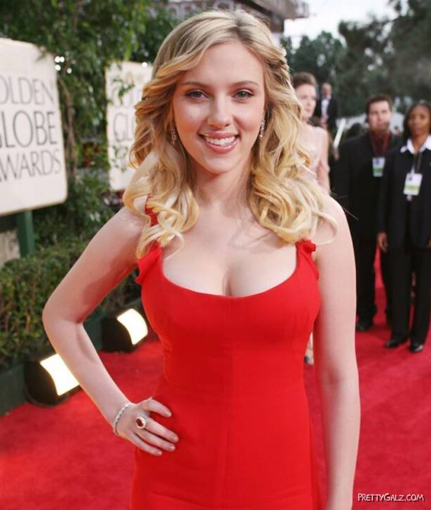 Scarlett Johansson at Golden Globe Awards